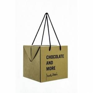 cajas con asas de cordón, packaging para dulces