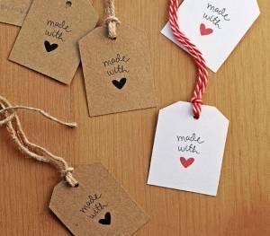 Etiquetas para envolver regalos de Navidad