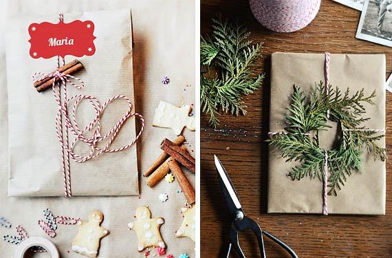 ideas DIY para envoltorios de regalos de navidad