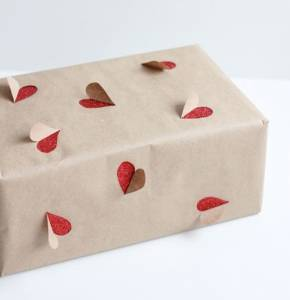 papel Kraft para packaging de San Valentin