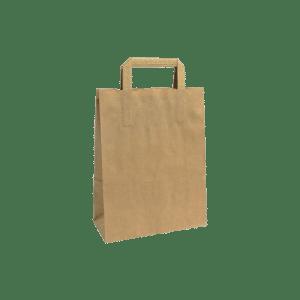 bolsa de papel asa plana Kraft
