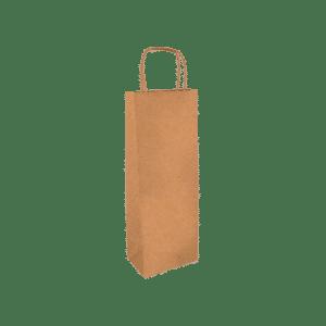 bolsa de papel Kraft para botella de vino