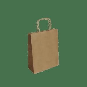 Bolsa de papel asa trenzada Kraft