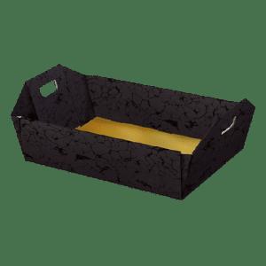 bandeja de cartón color negro