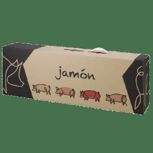 caja de cartón jamonero