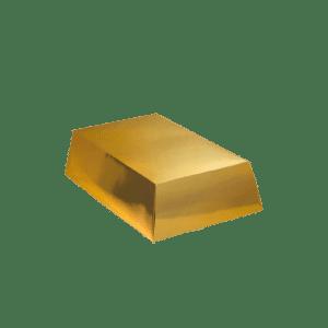 caja de cartón lingote