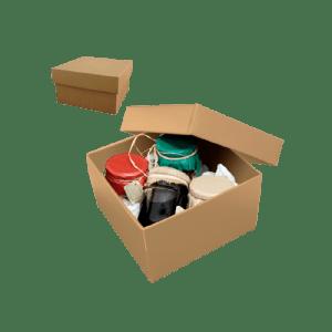 caja de cartón para lotes gourmet