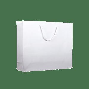 bolsa de papel lujo blanca