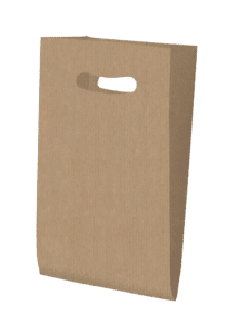 Bolsa de celulosa con asa troquelada Kraft