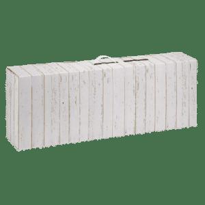 caja de cartón para jamones blanco