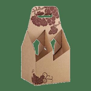 caja de cartón porta botellas