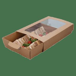 Bandeja de cartón para catering Take Away