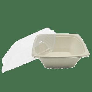 bowl cuadrado de fibra de trigo