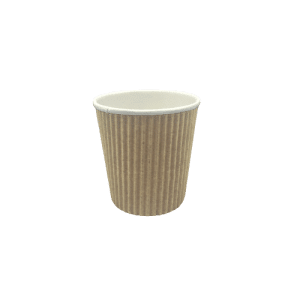 Vaso de papel corrugado para bebidas