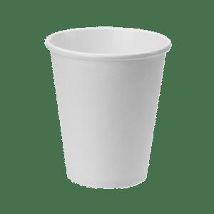 Vaso blanco para servir bebidas