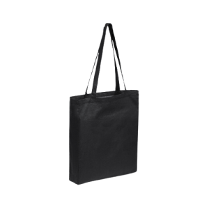 Bolsa de tela con fuelle negra